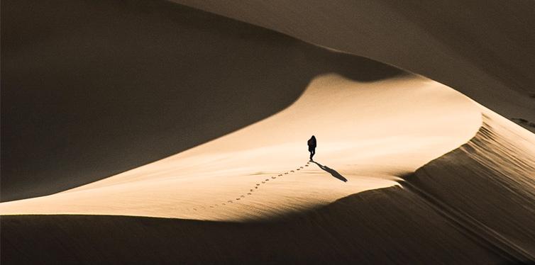 person in the desert