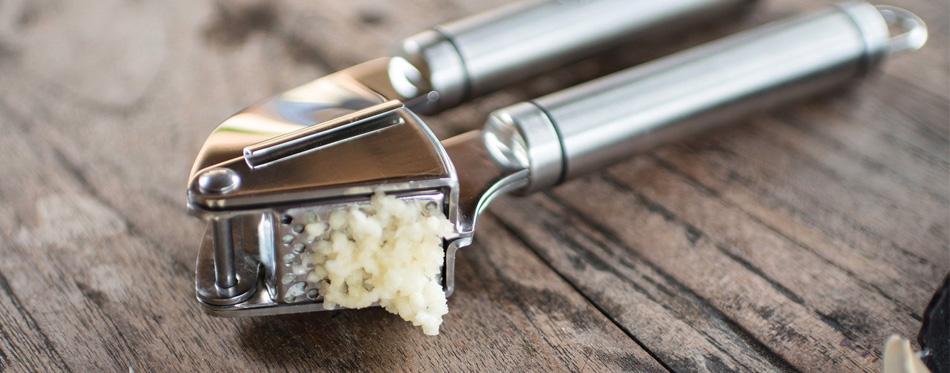 stainless steel garlic presser
