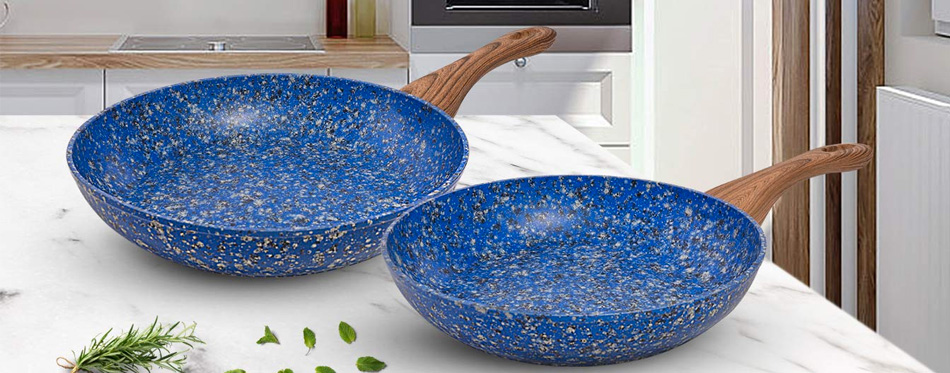 two stone frying pans
