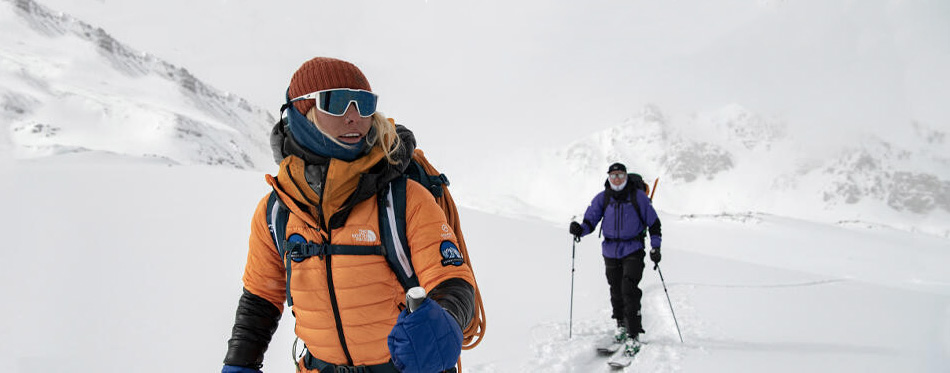 couple wearing buff gaiters