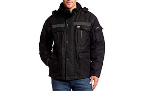 Caterpillar Men's Heavy Insulated Winter Jacket- Black