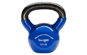 Yes4All Vinyl Coated Kettlebell