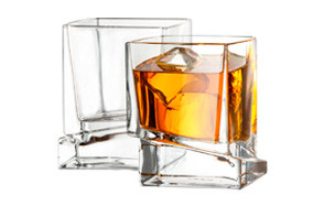 joyjolt carre square whiskey glasses