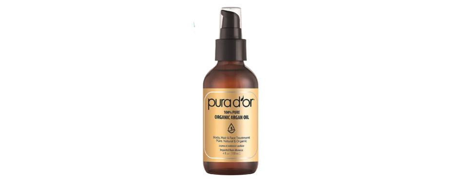 100% pure argan oil, by pura d'or