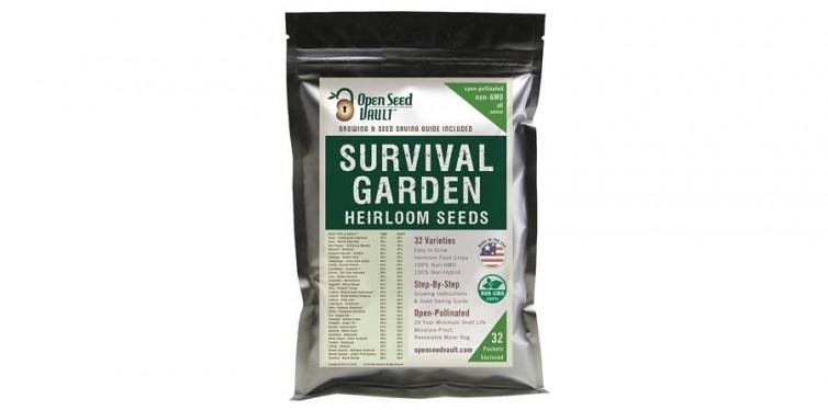 """The Survival Garden"""" – 15,000 Non-GMO Heirloom Vegetable Seeds"""