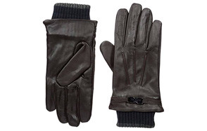 Ted Baker Men's Quiff Ribbed Cuff Leather Glove