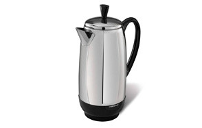 farberware 12-cup coffee percolator, stainless steel