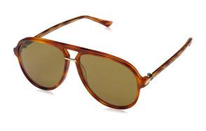 gucci men's retro aviator sunglasses
