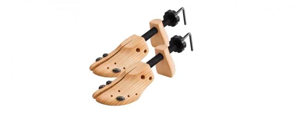 2 way cedar wooden shoe stretcher for men