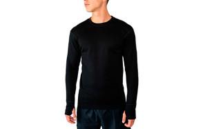 wool x glacier men's merino wool base layer top