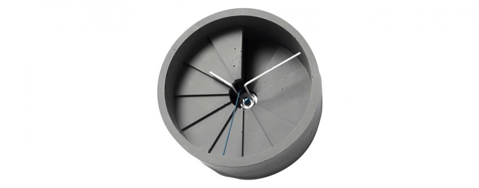 22 Design Studio 4th Dimension Concrete Wall Clock