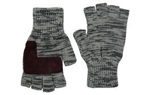 Levi's Men's Heathered Knit Fingerless Gloves