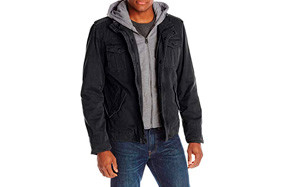 Levi's Men's Four-Pocket Hooded Winter Jacket