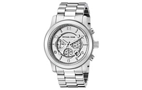 Michael Kors Men's Oversized Chronograph Watch – Silvertone