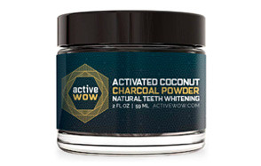 Active Wow Natural Teeth Whitening Kit Charcoal Powder