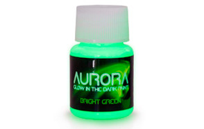 aurora bright green glow in the dark paint