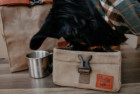 collapsible kibble bag and bowl by hoot and co