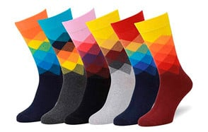 easton marlowe men's colorful patterned dress socks