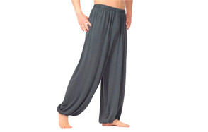 hoare men's super-soft modal spandex harem yoga pants