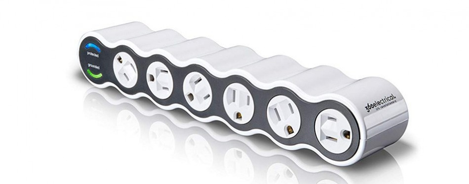 360 electrical 36051 power curve 6 outlet surge protector
