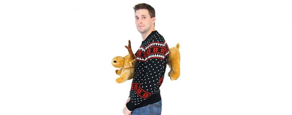 3d reindeer moose christmas jumper