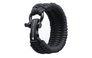 500lb Stainless Steel Bow Shackle Paracord Bracelet by The Friendly Swede