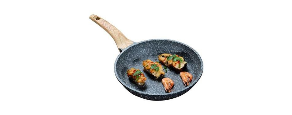 9.5 inch carote stone frying pan