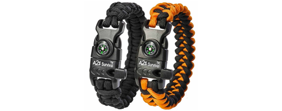 A25 K2 Peak Paracord Survival Bracelet