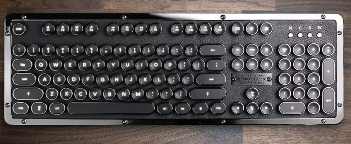 AZIO Retro Classic Bluetooth Keyboard