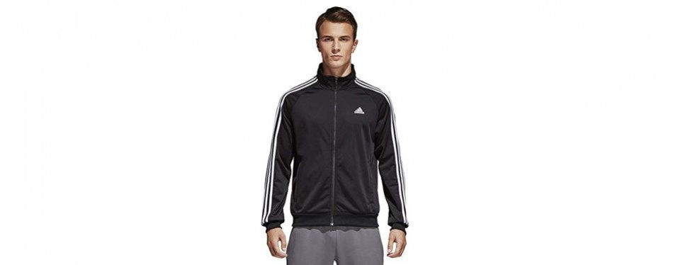 Adidas Men's Essentials 3-Stripe Tricot Running Jacket