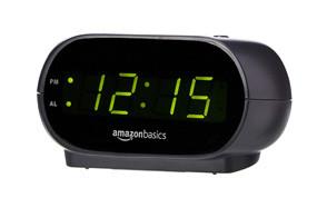 AmazonBasics Small Digital Alarm Clock