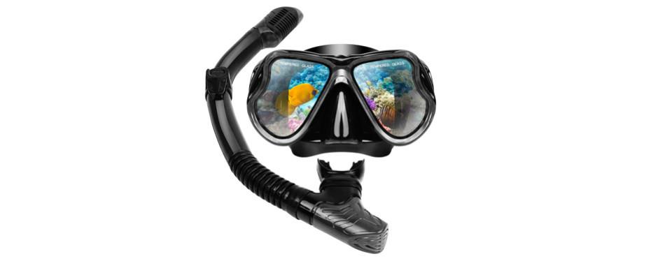 Aomais Dry Snorkel Mask Set