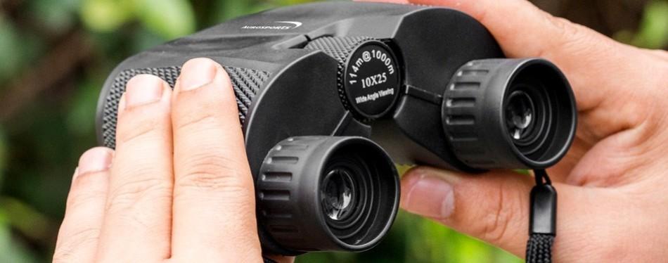 Aurosports 10×25 Folding High Powered Binoculars With Weak Light Night Vision