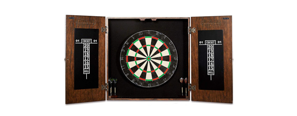 Barrington Collection Bristle Dartboard Cabinet Set