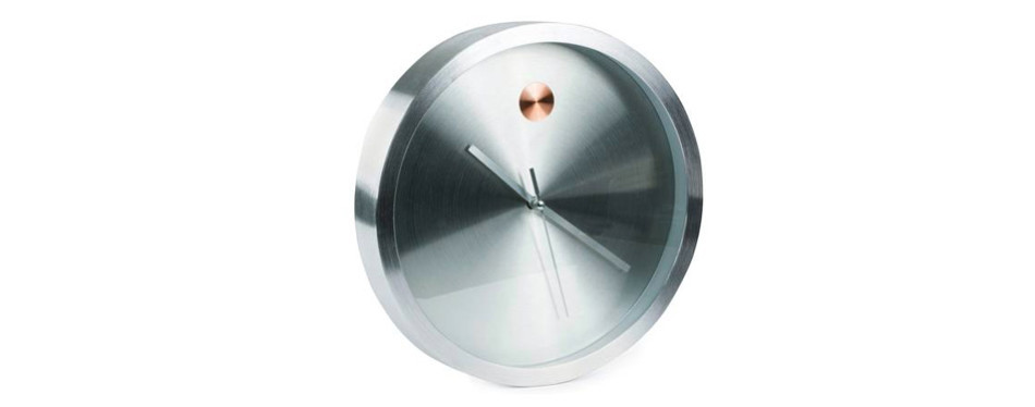 Bernhard Products Silver Wall Clock