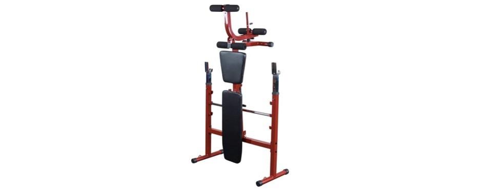 Best Fitness Olympic Bench with Leg Developer