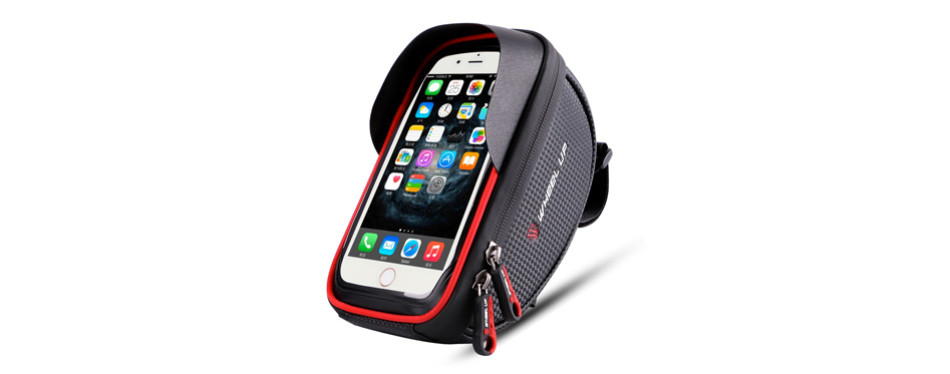 wallfire bike phone mount bag