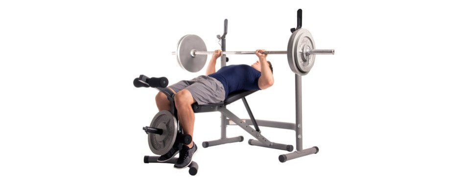 Body Champ Black Steel Olympic Weight Bench