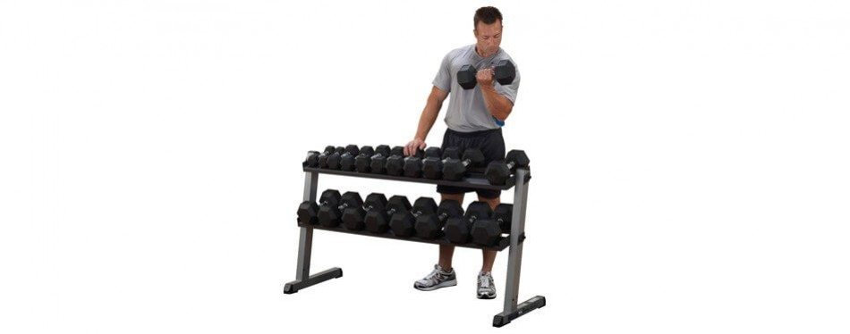 Body Solid 2-Tier Horizontal Dumbbell Rack