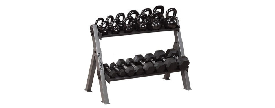 Body Solid Dumbbell and Kettlebell Rack