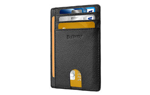 Buffway Slim Minimalist Front Pocket RFID Blocking Wallet