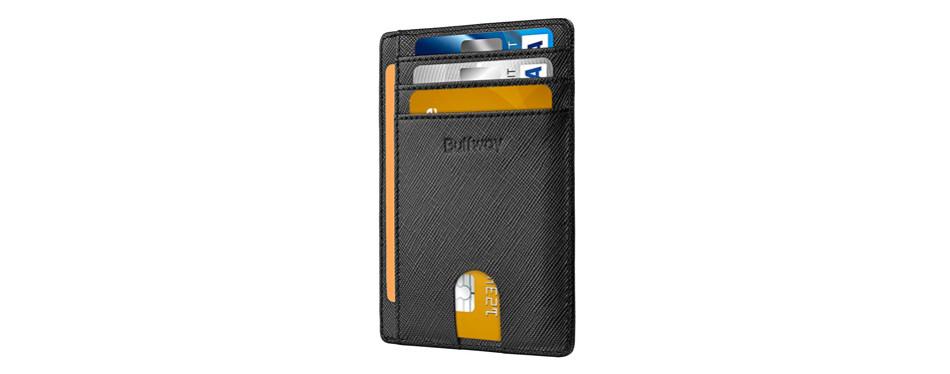Buffway Slim Minimalist Front Pocket RFID Blocking Wallet
