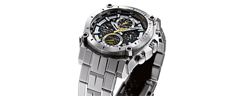 Bulova 47mm Precision Stainless Steel Chronograph
