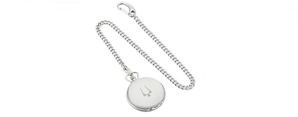 Bulova Stainless Steel Pocket Watch