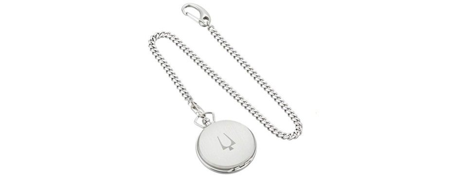 Bulova Stainless Steel Pocket Watch