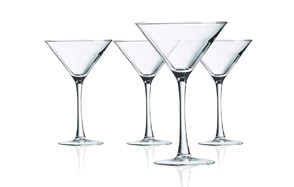 luminarc arc international martini glass set