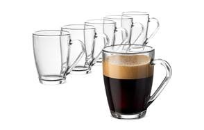 Beer Wine Coffee and More By Bruntmor for Tea 8 oz, Set of 2 Double Wall Glass with Handle