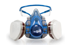 breath buddy respirator mask (plus safety glasses)