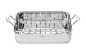 cuisinart 7117-16ur chef's classic stainless 16-inch rectangular roaster