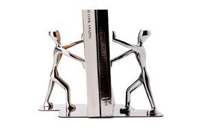 fasmov heavy duty stainless steel man bookend